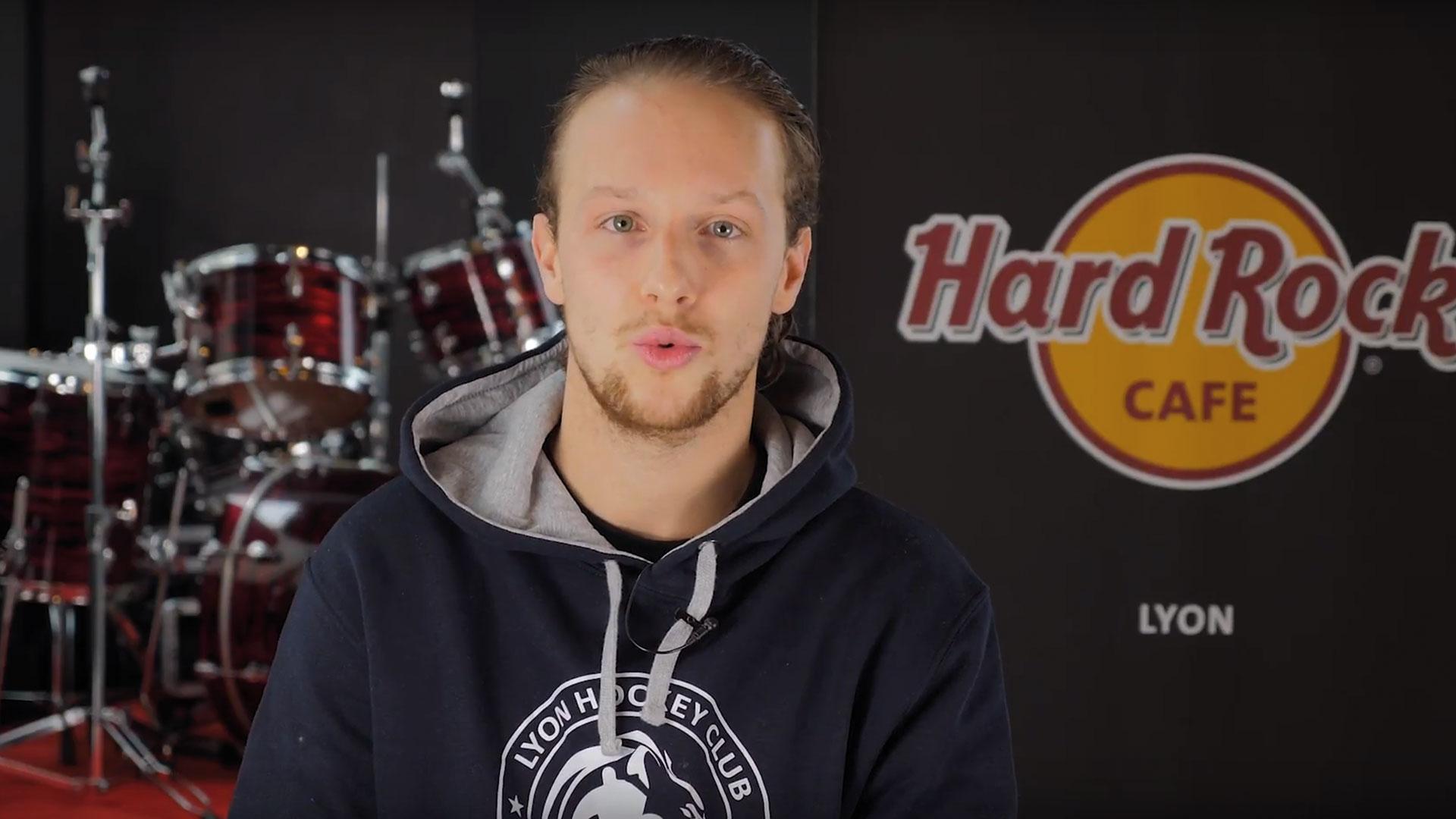 hockeyeur LHC au Hard Rock Café de Lyon