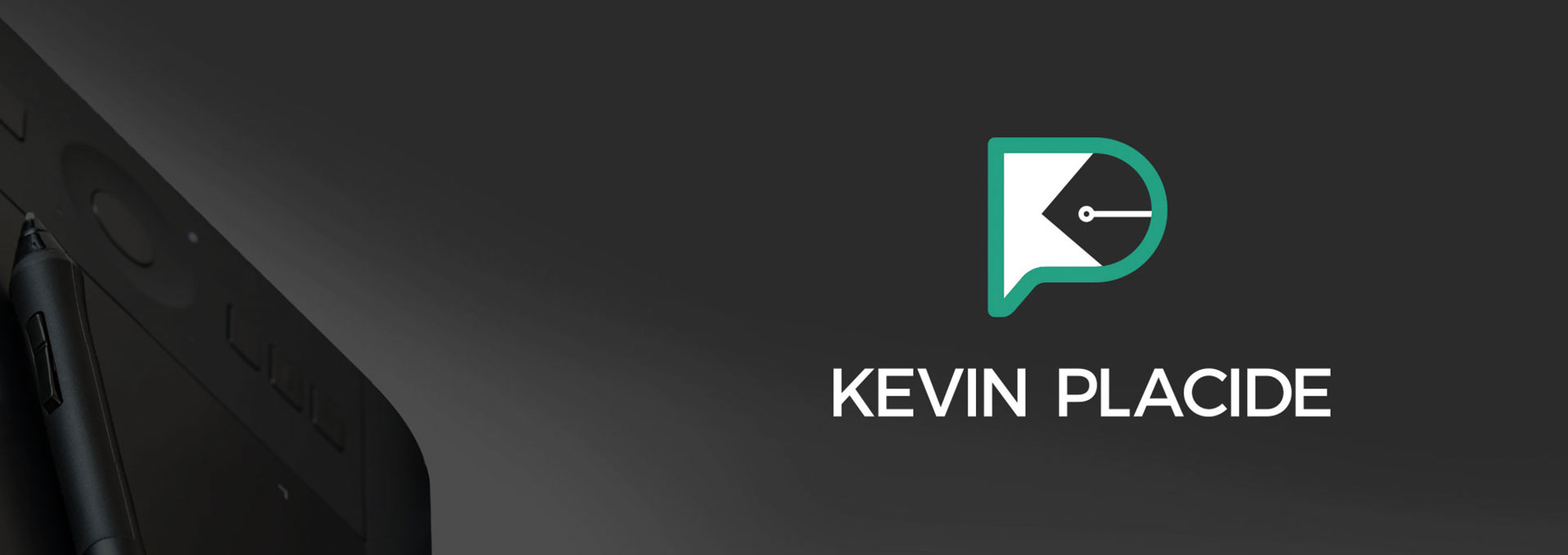 logo kevin placide avec tablette graphique