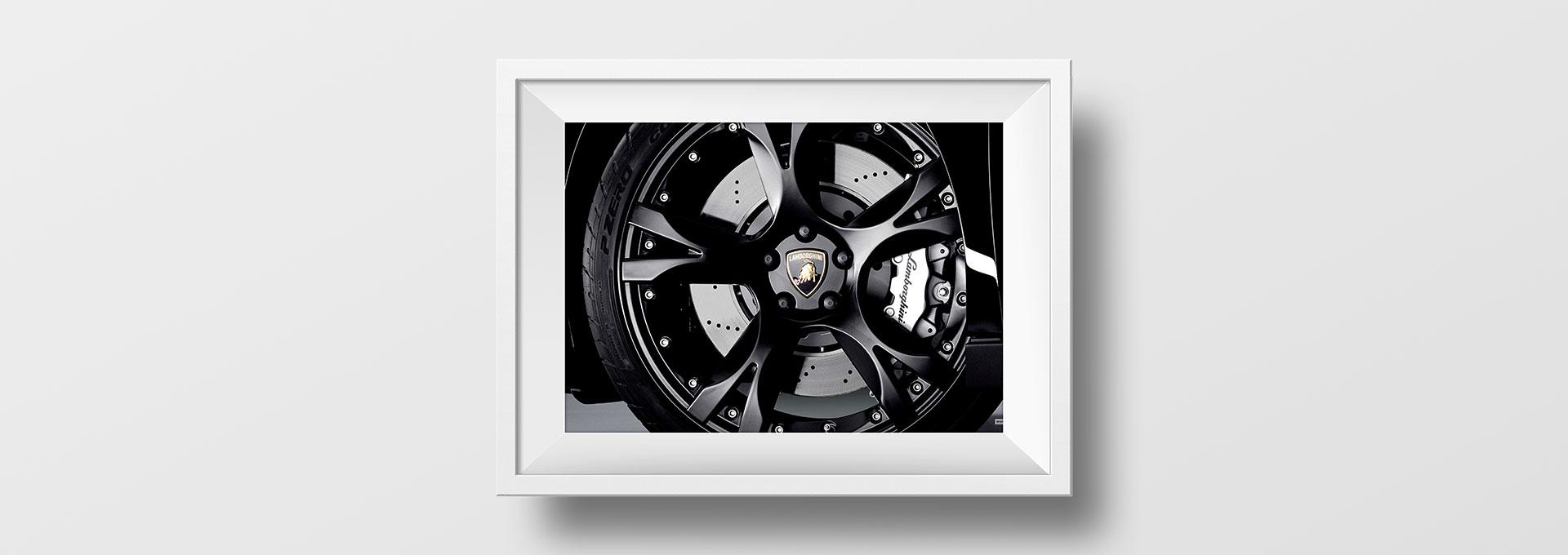 Tableau roue Lamborghini