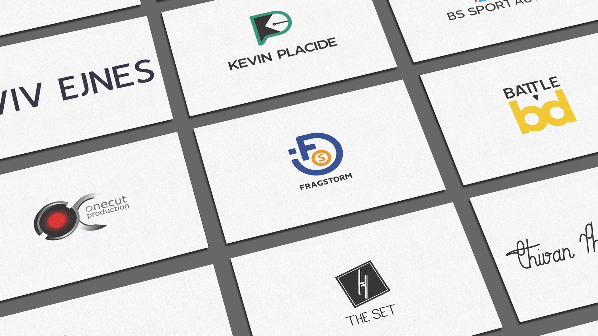 Plusieurs création de logo sous forme de carte de visite