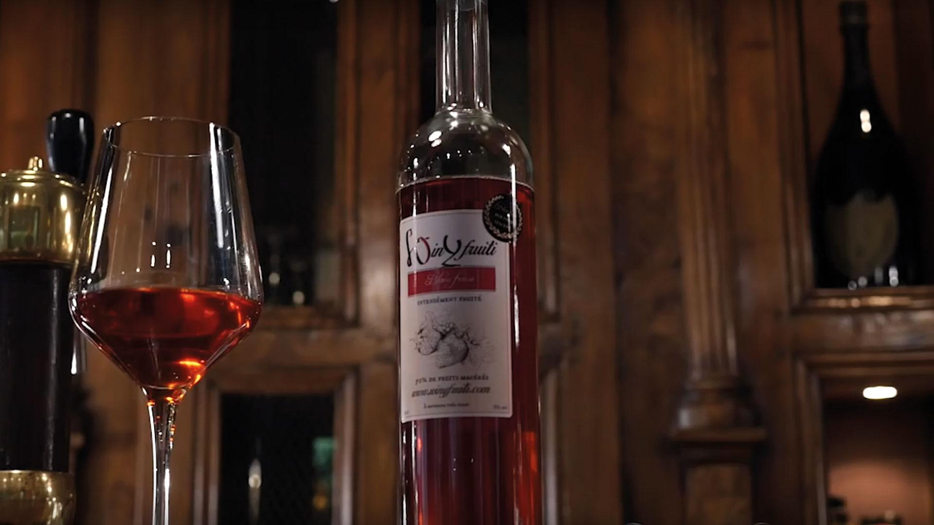 bouteille de vin fruité