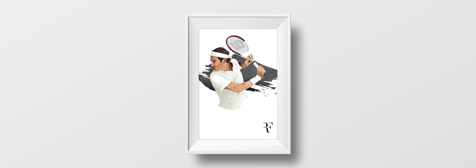 Tableau Roger Federer
