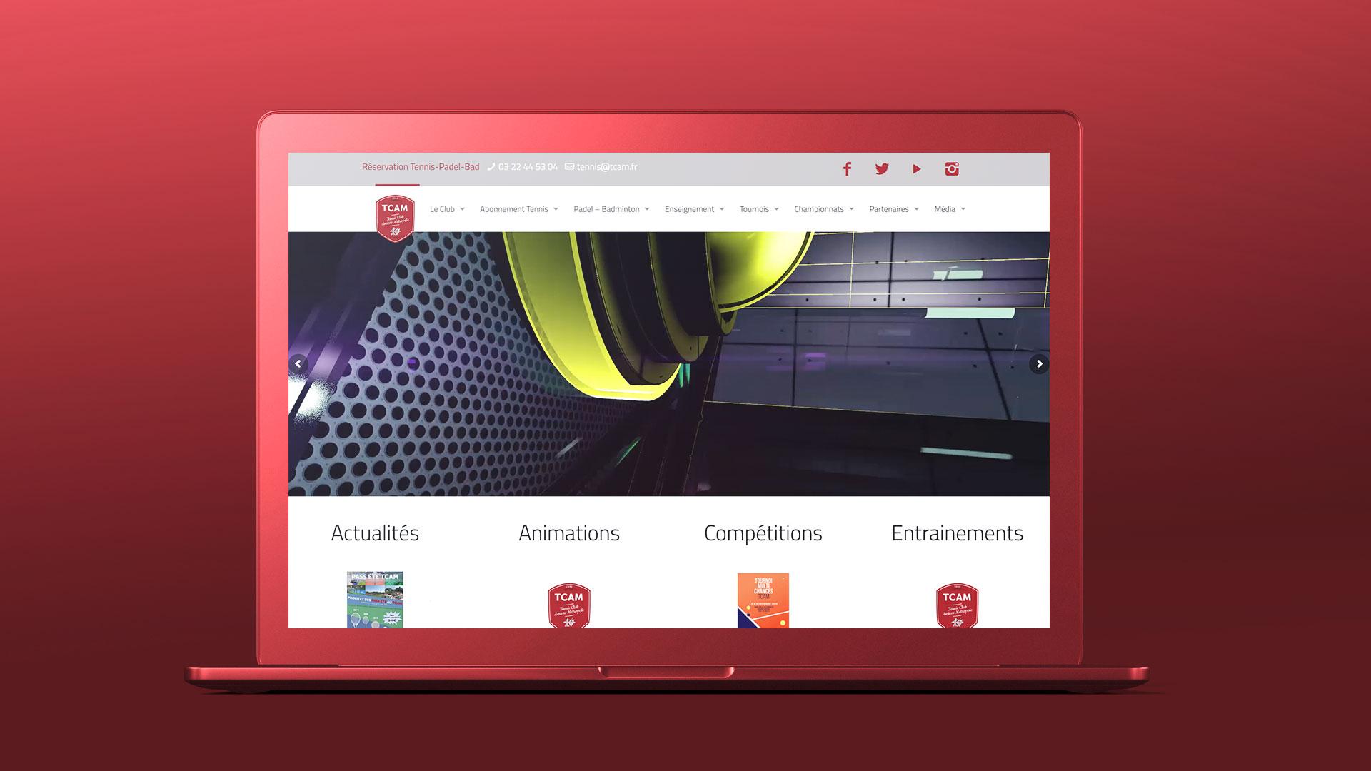 Site internet TCAM sur ordinateur