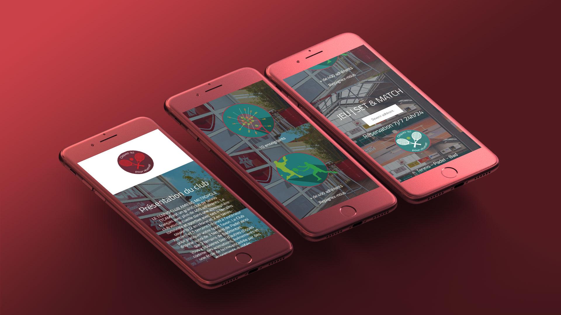Site internet TCAM sur smartphone