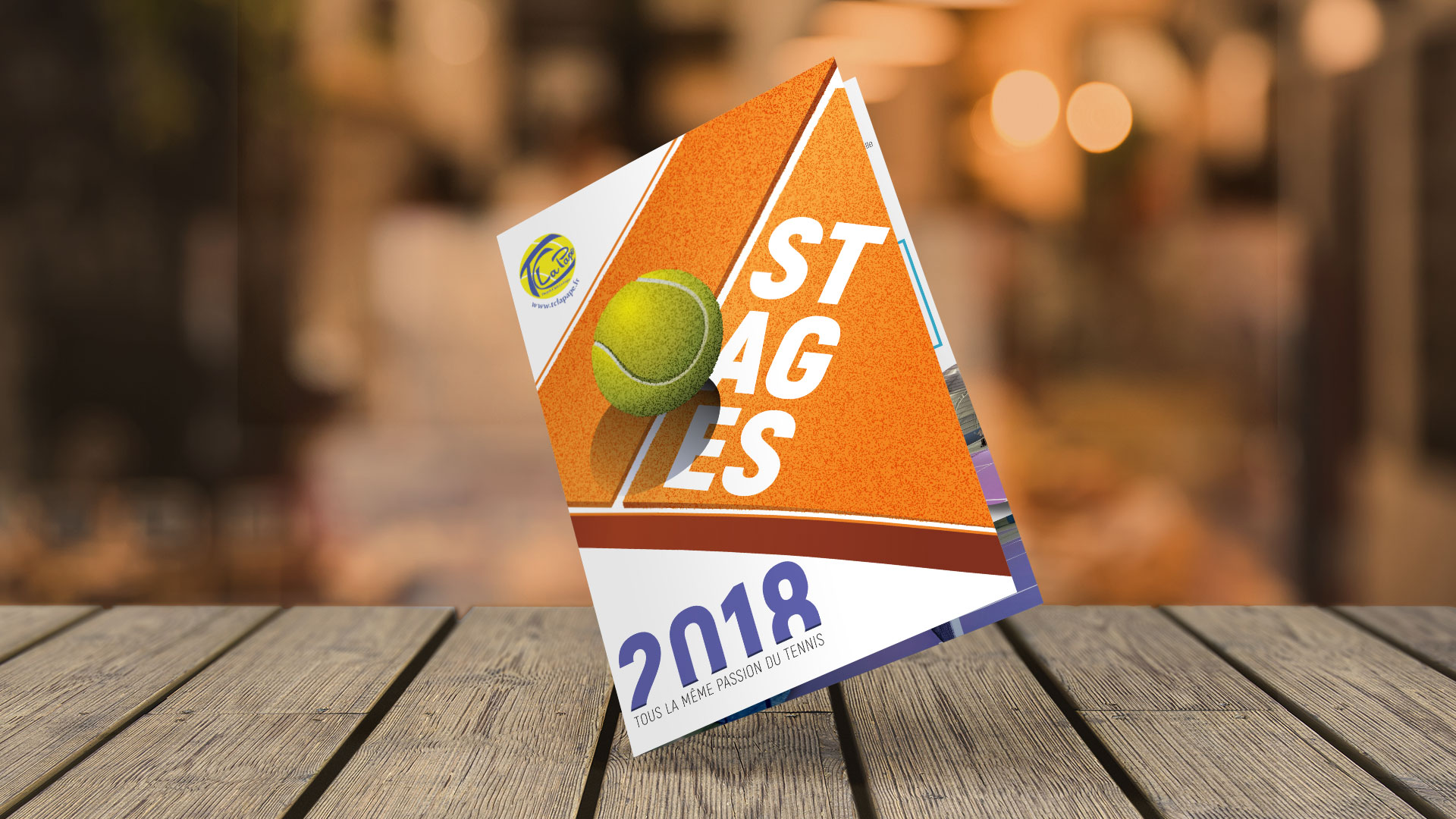 Couverture dépliant Tennis Clb La Pape 2018